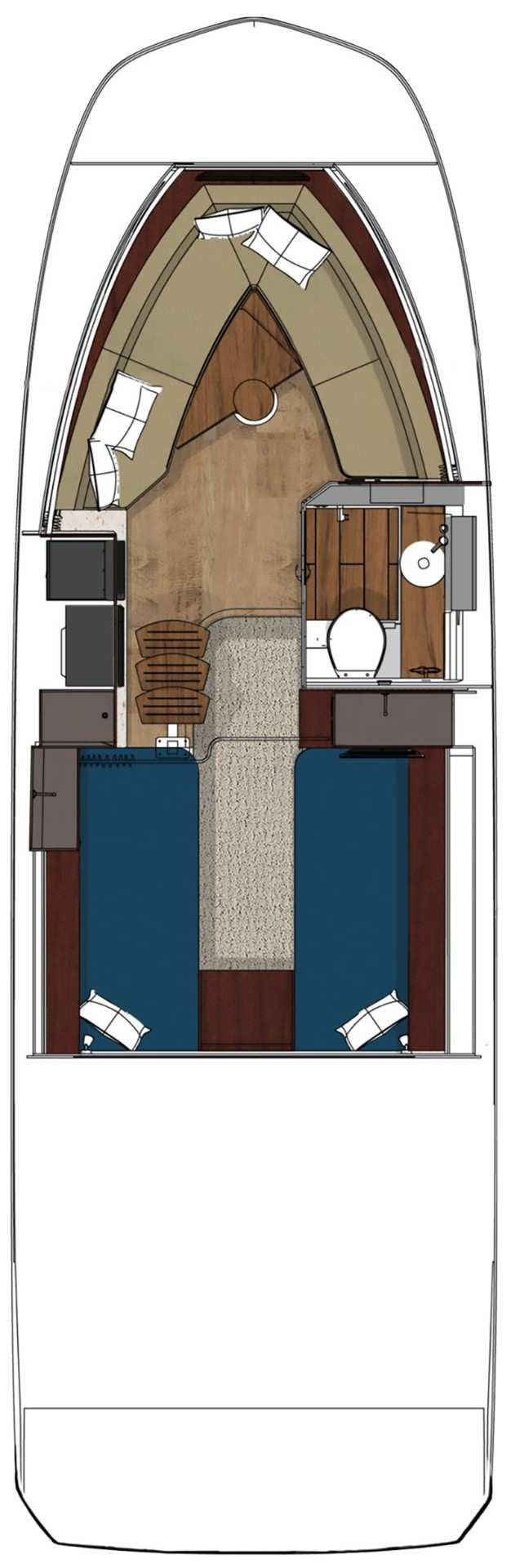 Sundancer 320 Outboard Cabin floor plan
