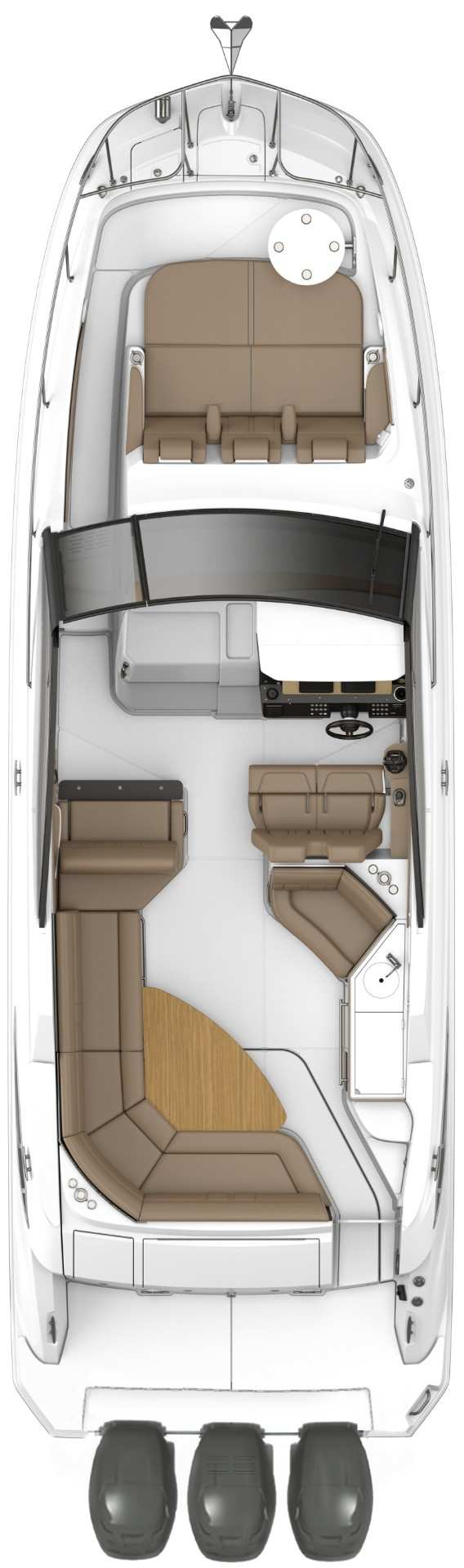Sundancer 320 Outboard Cockpit floor plan