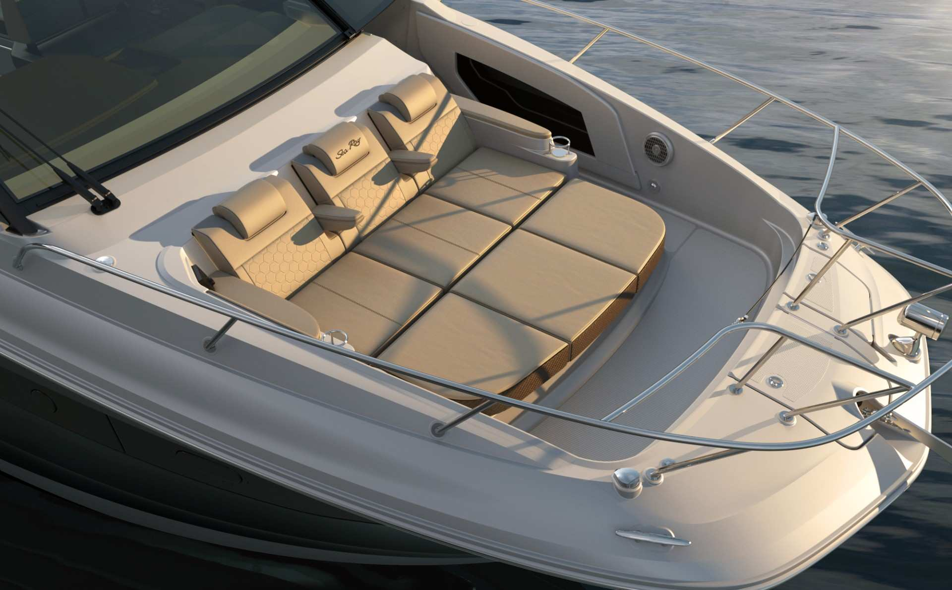 Sundancer 320 Coupe bow seating