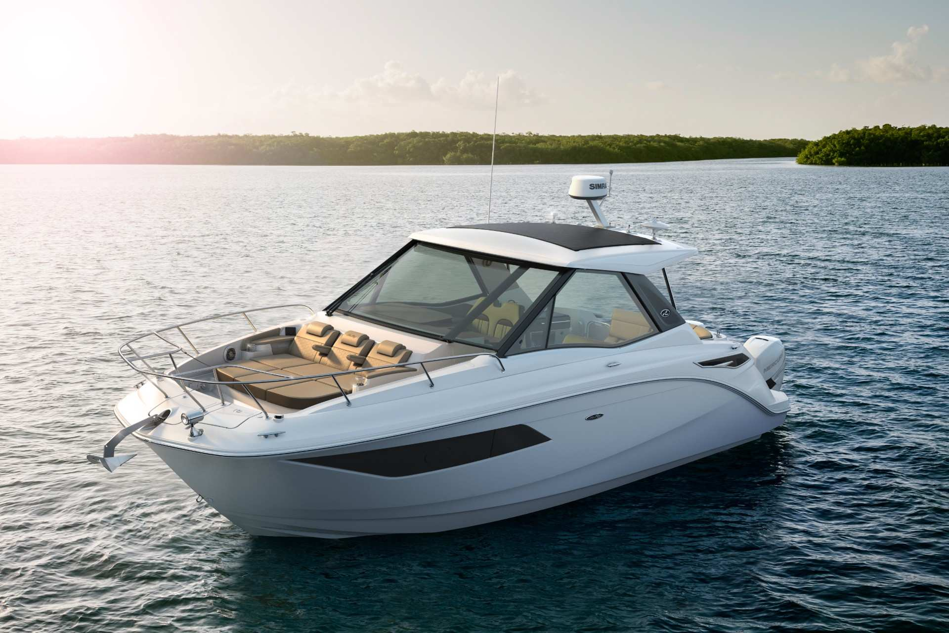 Sundancer 320 Coupe Outboard port front three quarter