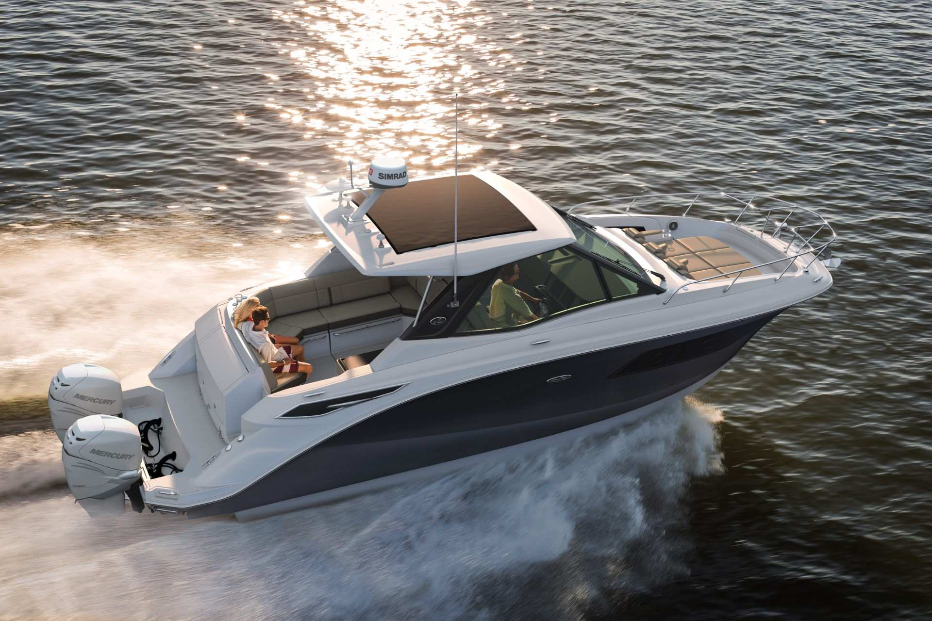 Sundancer 320 Coupe Outboard starboard rear three quarter