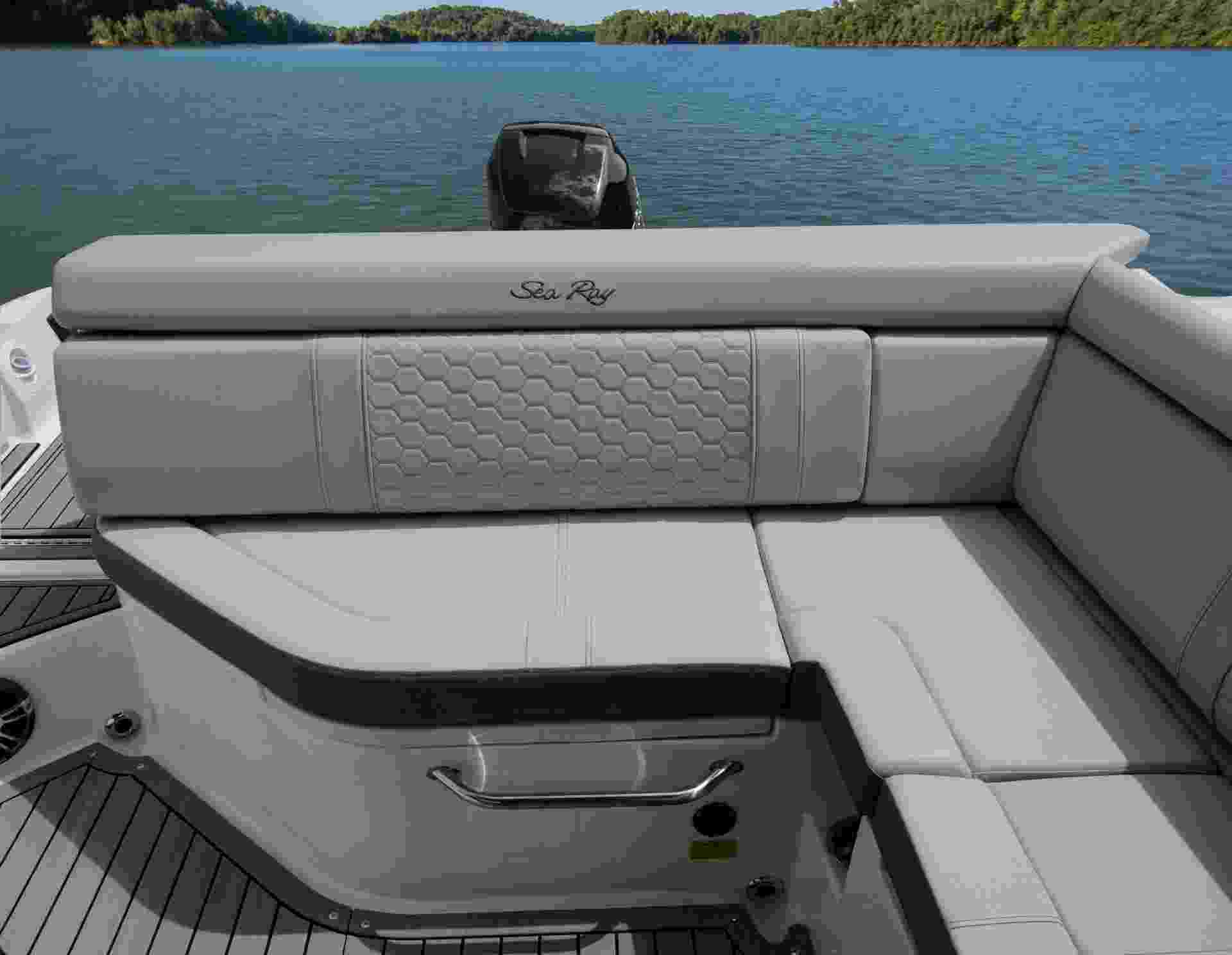 SDX 270 Outboard cockpit seating stone interior